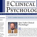 The Clinical Psychologist – Winter 2013