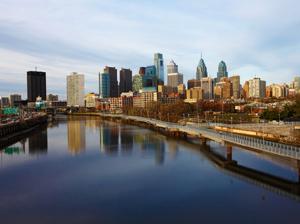 A panoramic view of Philadelphia, Pennsylvania skyline